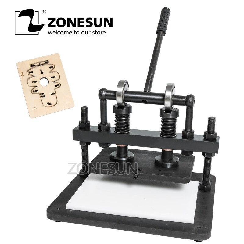 ZONESUN 2616 cm bricolage sac à main manuel en cuir machine de découpe papier photo PVC/EVA feuille moule coupe en cuir machine de découpe