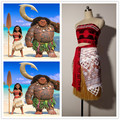 thelatest Film animation Moana  clothing Cosplay Moana  costume party role-playing  princess Moana costume suit custom made