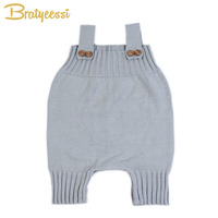 Fashion Knit Baby Romper For Girl Boy Overalls Infant Jumpsuit Baby Clothes 3 Colors M L