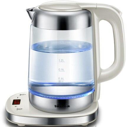 wasserkocher aus glas mit temperaturregler
