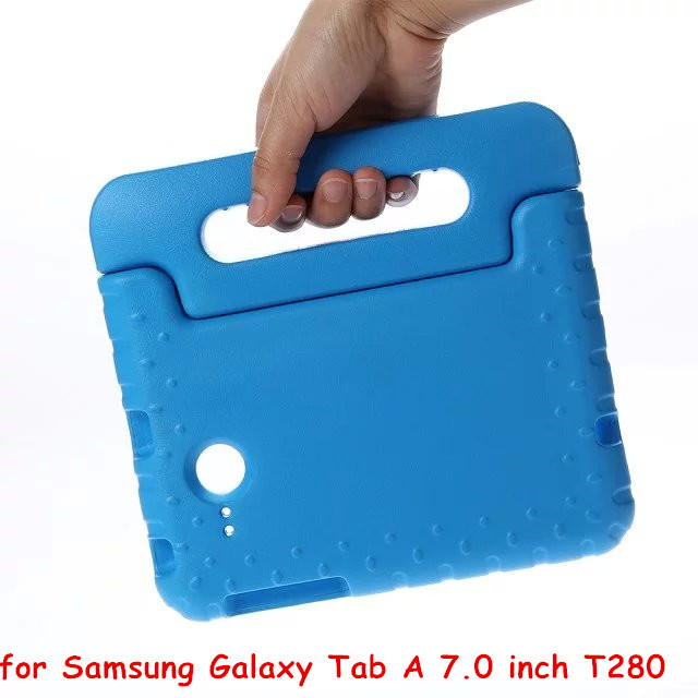 EVA Stand Case Cover for Samsung Galaxy Tab A 7.0 inch Tablet T280 T285 Tablet Case With Hand Holder & Screen Protector
