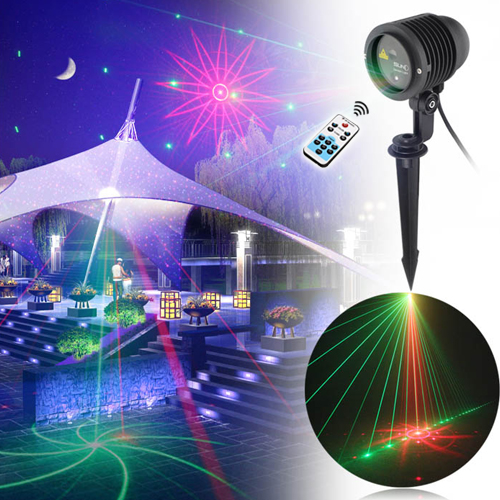 Big Casing Outdoor Waterproof RG Laser Light Christmas Lights Projector Garden Lawn Landscape Decorative Lighting 8 Patterns