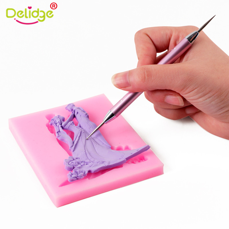 Ernstig Delidge 5 Stks/set Fondant Cake Decorating Pen 3d Sugarcraft Bakken Gebak Fondant Cake Decorating Gereedschap