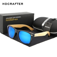 HDCRAFTER Retro Mens Sunglasses Wood Bamboo Sunglass For Women Brand Design Wooden Goggles Sun Glasses 16 Colors for Selection