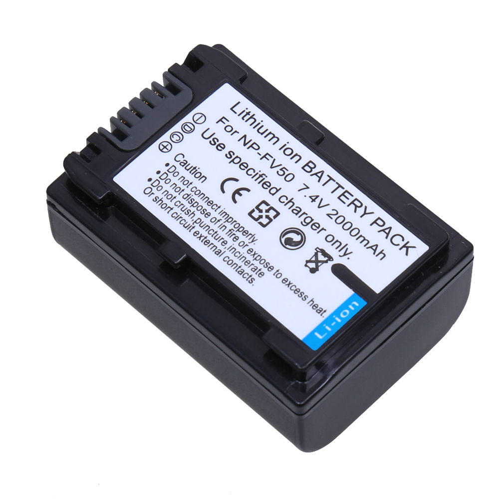 2Pc/lot 2000mAh <font><b>NP</b></font>-FV70 <font><b>NP</b></font> FV70 NPFV70 Rechargeable Camera <font><b>battery</b></font> for <font><b>Sony</b></font> <font><b>NP</b></font>-FV50 <font><b>FV30</b></font> HDR-CX230 HDR-CX150E HDR-CX170 CX300 Z1 image
