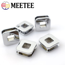 10pcs/lot NEW Rushed New Arrival Lace Plating Rings Metal 4pcs Meetee Square Eyelet Buckle Bags Hardware Decorative F3-14