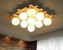 Japoński z litego drewna sufitu światła proste kreatywne Nordic logi oświetlenie salonu ciepłe drewniane światła w sypialni DIY CL MZ121