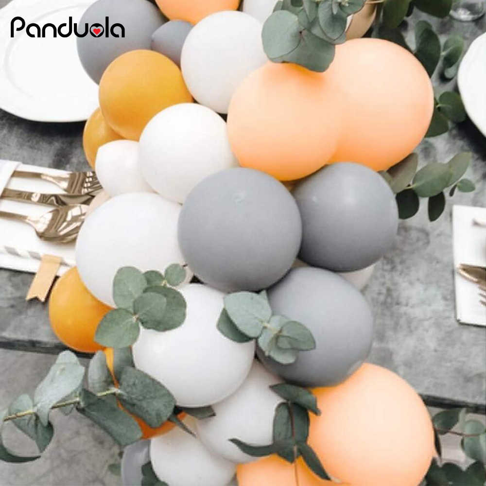 5inch Macaron Balloons arch Gray Peach Orange  Balloon gender reveal set baby birthday balloons 30 birthday party decorations