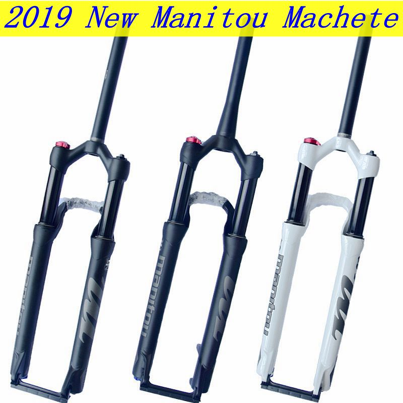 2019 New Manitou Machete Bike <font><b>Fork</b></font> size <font><b>27.5</b></font> 29er Straight / Cone MTB <font><b>Bicycle</b></font> suspension Oil and Gas <font><b>Fork</b></font> SR SUNTOUR acessorios image