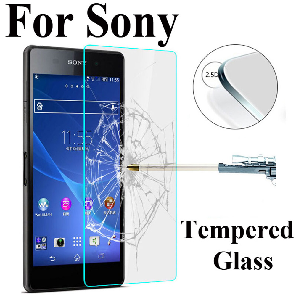ZYS Screen Protector 100 PCS for Sony Xperia XZ2 Compact 0.26mm 9H Surface Hardness 2.5D Explosion-Proof Tempered Glass Screen Film