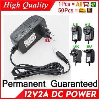 Podniesienia jakości 12V2A AC 100 V-240 V konwerter Adapter DC 2000mA zasilacz LED ue wtyczką amerykańską 5 5mm x 2 1-2 5mm dla produktu z kamery tanie i dobre opinie Clestech PRĄD STAŁY 12V Plug In default-EU LED Strip power supply 1 Out 4