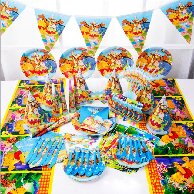 16 Set/ 1 Boxes Pooh Bear Disposable Tableware Sets Childrenu0027s Birthday Party Decorations Winnie the  sc 1 st  AliExpress.com & 16 Set/ 1 Boxes Pooh Bear Disposable Tableware Sets Childrenu0027s ...