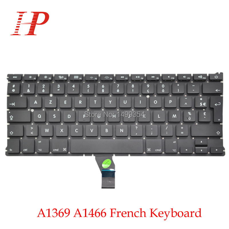 Original New A1369 A1466 French Keyboard For Apple Macbook Air 13'' Replacement