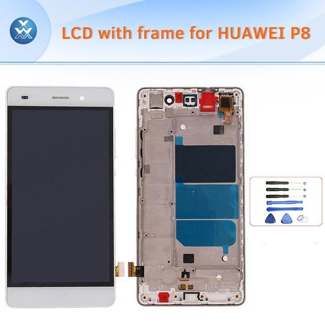 Для Huawei P8 Lite ЖК-Экран с рамкой полный ассамблеи ЖК-дисплей с сенсорным экраном дигитайзер полный экран замена + инструменты
