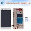Para huawei p8 lite pantalla lcd con marco de montaje completo pantalla lcd de pantalla táctil digitalizador reemplazo + herramientas pantalla completa