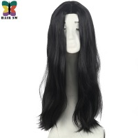 HAIR SW Long Hair Heat Resistant Straight Cosplay Wig Costume NO Bangs Natural Black Fancy Wigs