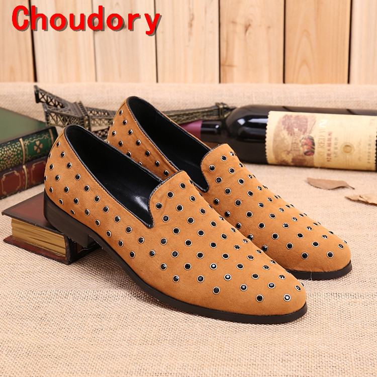 Choudory vintage european mens dress shoes black spiked loafers velvet men prom shoes party wedding mens italian leather shoes choudory new winter men ankle italian shoes men leather shoes pointed toe mens black dress shoes sequined toe spiked loafers men