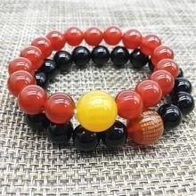 Drop Shipping Natural Agate Beads Buddhist Scriptures Bracelet Amulet Sprinkle Jade Stone Bracelet For Women Men цена