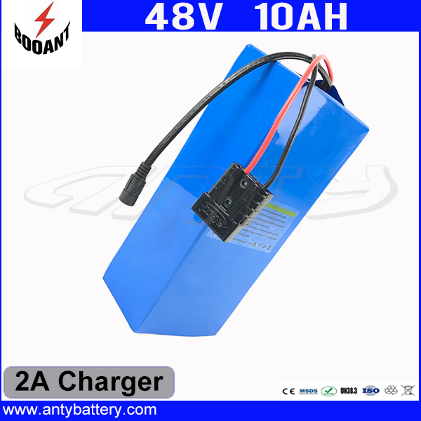 eBike Battery 48V 10Ah For 8FUN Bafang 550W Motor With 54.6V 2A Charger 18650 Cell Lithium Battery 48V 10Ah Free Shipping 30a 3s polymer lithium battery cell charger protection board pcb 18650 li ion lithium battery charging module 12 8 16v