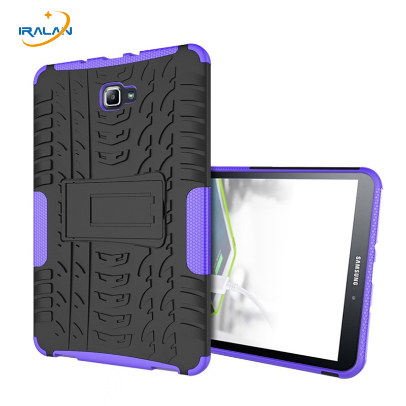 Shockproof Heavy Duty Rugged case For Samsung Galaxy Tab A A6 10.1 P580 P585 with S-Pen Tablet TPU+PC Armor KickStand+film+pen