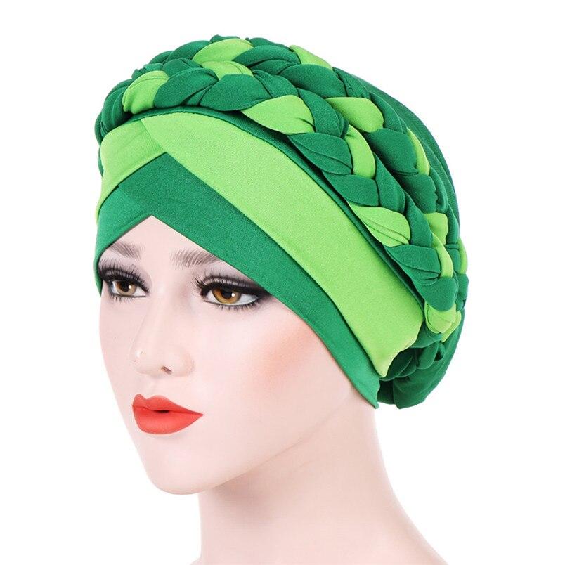 2018 Fashion New Women Hairbraid India Africa Muslim Stretch Turban Cotton Hair Loss Head Scarf Wrap Cap Casual Hot Sale #L26 (15)