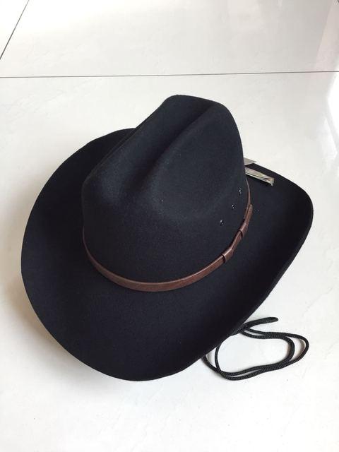 Masculino lana sombrero Fedora Panamá Cap adultos moda lana fieltro Jazz  sombreros hombres sombreros de vaquero b21c87a98e2