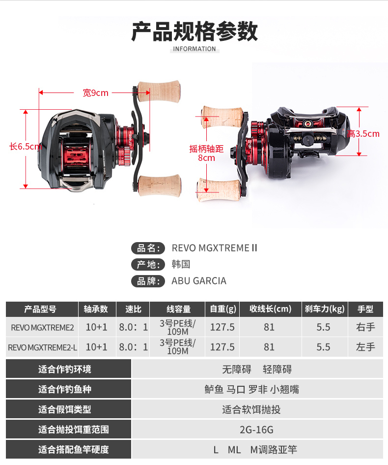 Low 127.5g Reel Mgxtreme2 3