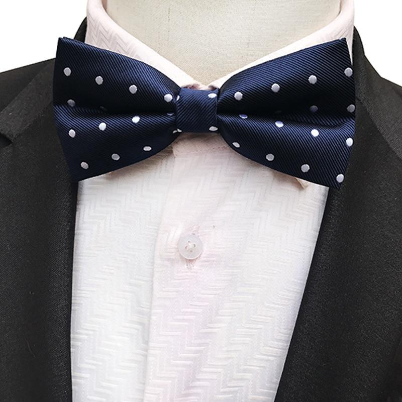 NEW Dot Bow Tie Wedding Bowtie Noeud Papillon Boys & Girls Polyester Silk Pajaritas Cravat Bowties Female Male Neckwear
