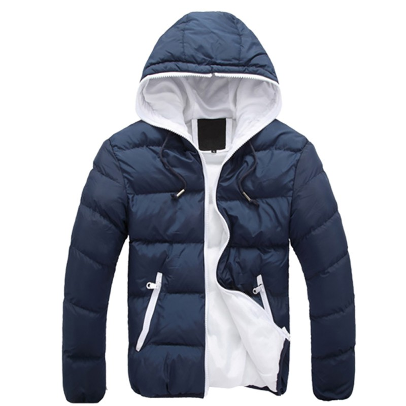 Jackets & Coats Winter Warm Jacket Men Hooded Slim Casual Coat Cotton-padded Jacket Parka Overcoat Hoodie Thick Coat