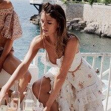 plissée imprimé robe bretelles