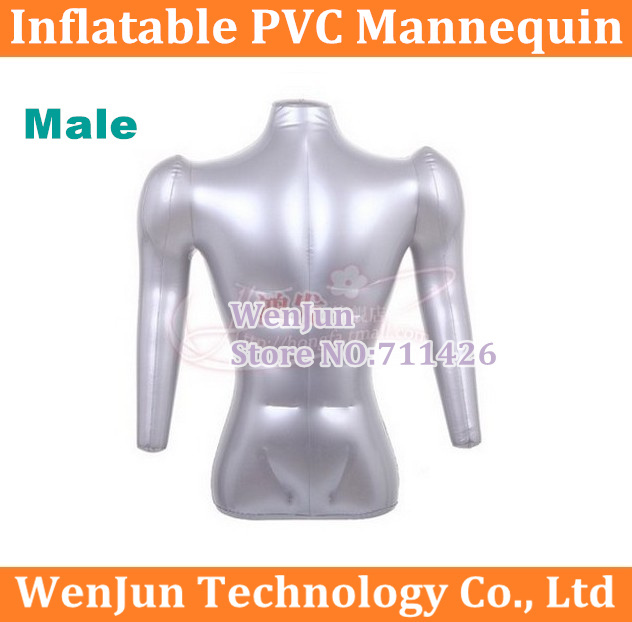 Free Shipping Half Body Male Man Form Inflatable Mannequin Have Arm Upper-body Dummy High Quality