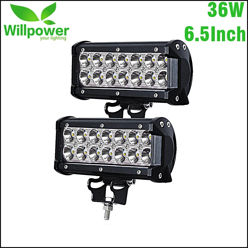 7 inch 36W Led Work Light Spot Offroad Driving Fog Lamp Truck 4x4WD SUV Boat
