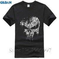 2017 Streetwear Punisher Skull Hip Hop Supper Hero T Shirt Harajuku Men Short Sleeve T Shirt
