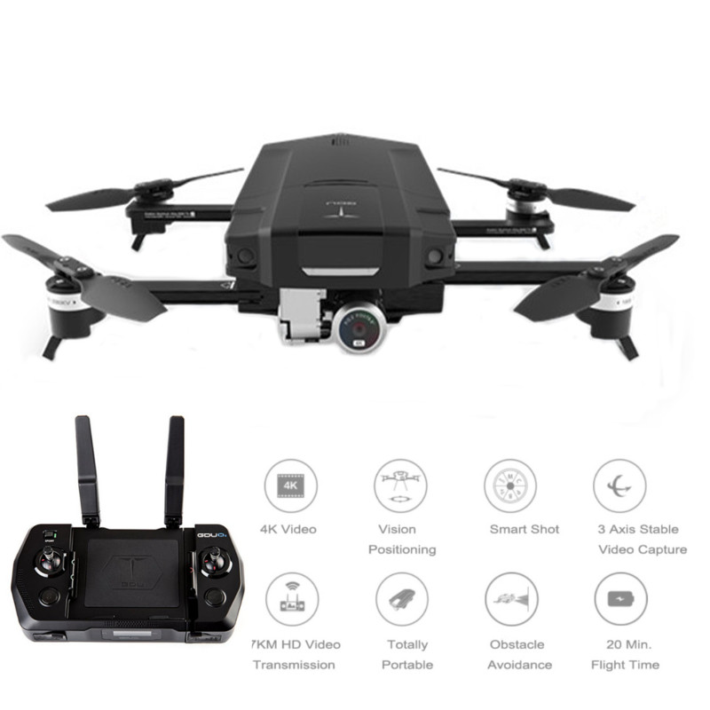 New Arrival GDU O2 Wifi FPV With 3-Axis Stabilized Gimbal 4K Camera Obstacle Avoidance RC Drone Quadcopter VS Eachine E58 with two batteries yuneec q500 4k camera with st10 10ch 5 8g transmitter fpv quadcopter drone handheld gimbal case