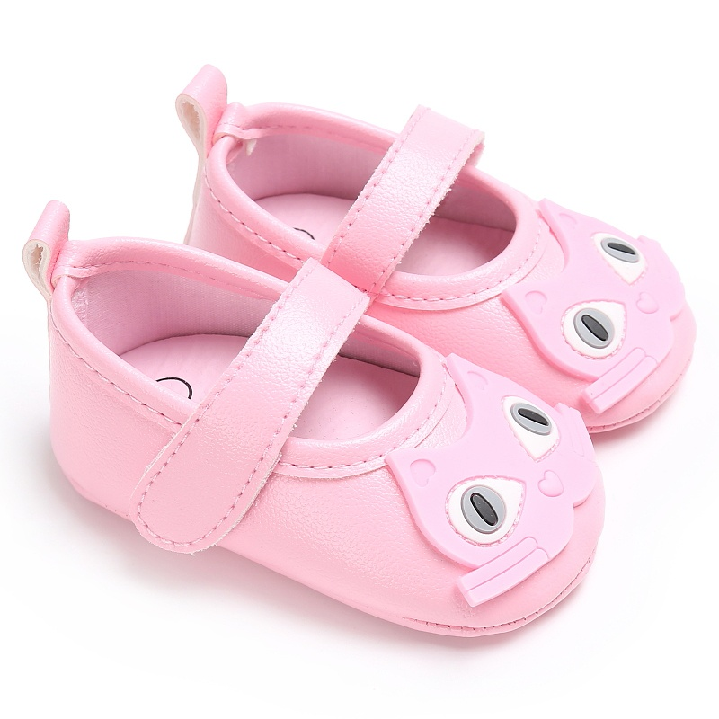 New Lovely Cat Cartoon Baby Princess Pedal Shoes Newborn Infant Toddler First Walkers Soft Soled PU Leather Kids Shoes