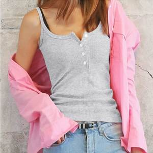 Sexy Summer Clothing Blouse Tank-Tops Knitting-Top Fashion Women Sleeveless Vest Casual