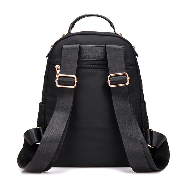 Female Backpack Preppy Style Nylon Women Backpack High Qulaity Shoulder Bags Student Bag Black Backpack A2217 2