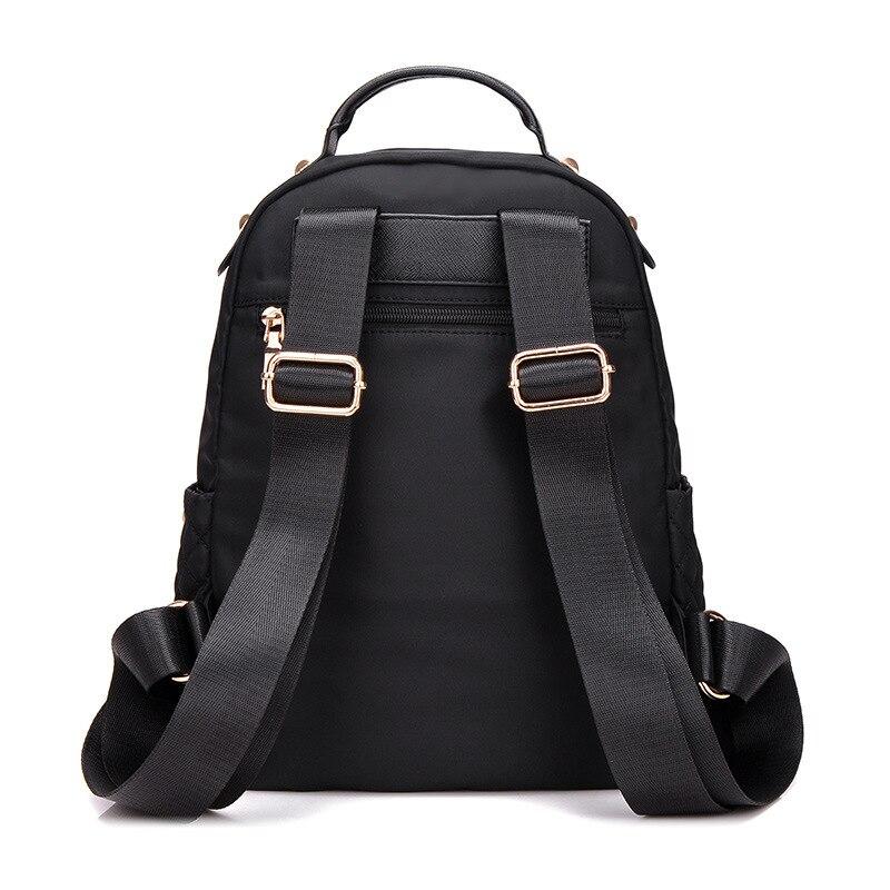 Female Backpack Preppy Style Nylon Women Backpack High Qulaity Shoulder Bags Student Bag Black Backpack A2217 #3