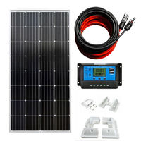150W Monocrystalline Off Grid System & 20A Solar Controller Home Power solar energy system solar cell solar panel 150W
