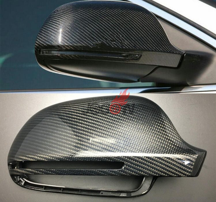 2pcs/set Carbon Fiber Replacement Side Wing Rear View Rearview Mirror Cover W/O side lane assist for Audi A8 A3 Q3 A4 B8 A5 A6 a3 s3 carbon fiber replace style side rear mirror cover trims for audi a3 s3 2014 2015 2016 with side assist