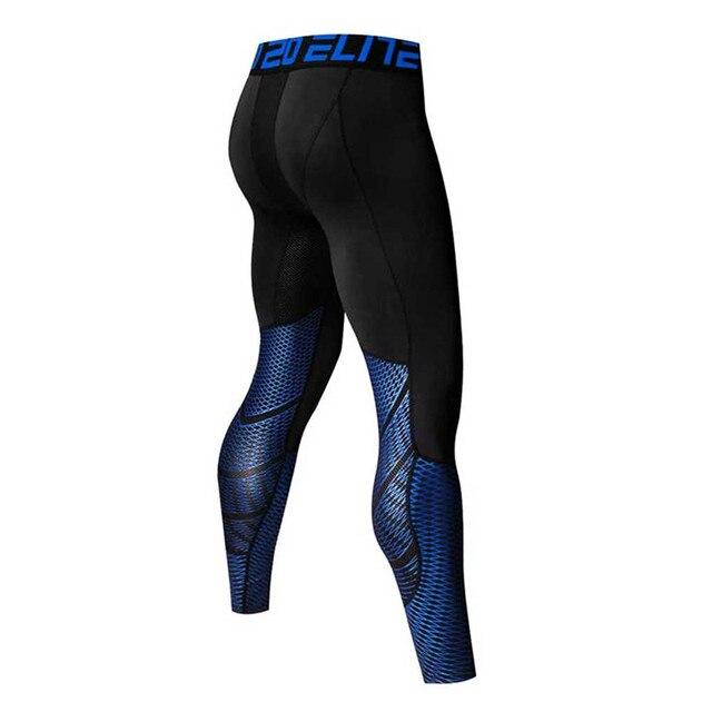 Los hombres corriendo medias Pro comprimir pantalones de Yoga gimnasio  Fitness polainas entrenamiento de baloncesto ejercicio 907bef65858fd