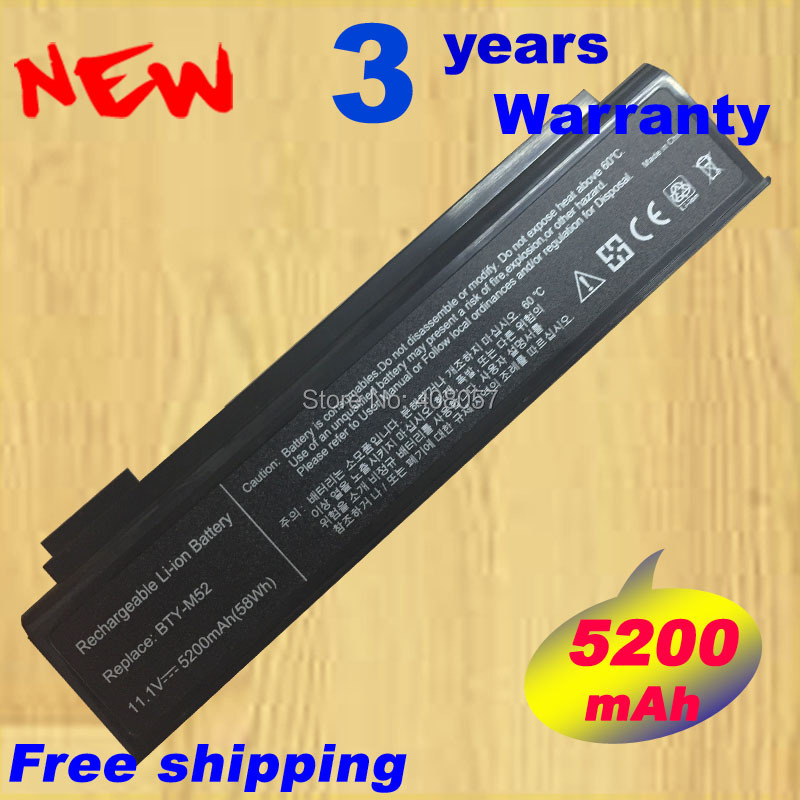 Batterie d'ordinateur portable POUR MSI 925C2240F BTY-M52 BTY-L71 K1-113PR K1-2224A K1-2225A8 K1-222CR K1-222EG K1-333WG K1-355DR K1-422DR