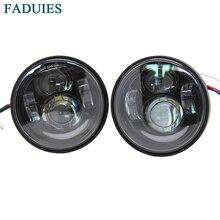FADUIES, 1 пара, 4,5 дюймов, мотоциклетный светодиодный фонарь, дальний и ближний свет, с DRL угловыми глазами для Harley-Motor Fat Bob FXDF, светодиодный налобный фонарь