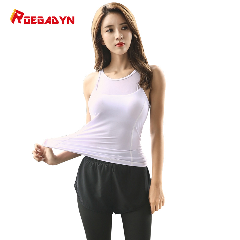 Roegadyn White Yoga Set Sport Put on Ladies Sports activities Go well with Health Gymnasium Clothes Sports activities Bra Leggings Exercise Operating Tracksuits