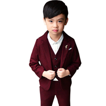 2019 New Boys Suits for Wedding Autumn Winter Boys Wedding Suit Formal Suit for Boy Party Suits Blazer Boy Clothing 3-10T недорого