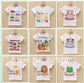 2014 Summer Kids boys girls cartoon 100% cotton t shirt toddler printed short sleeve o-neck T-shirt children clothing wholesale