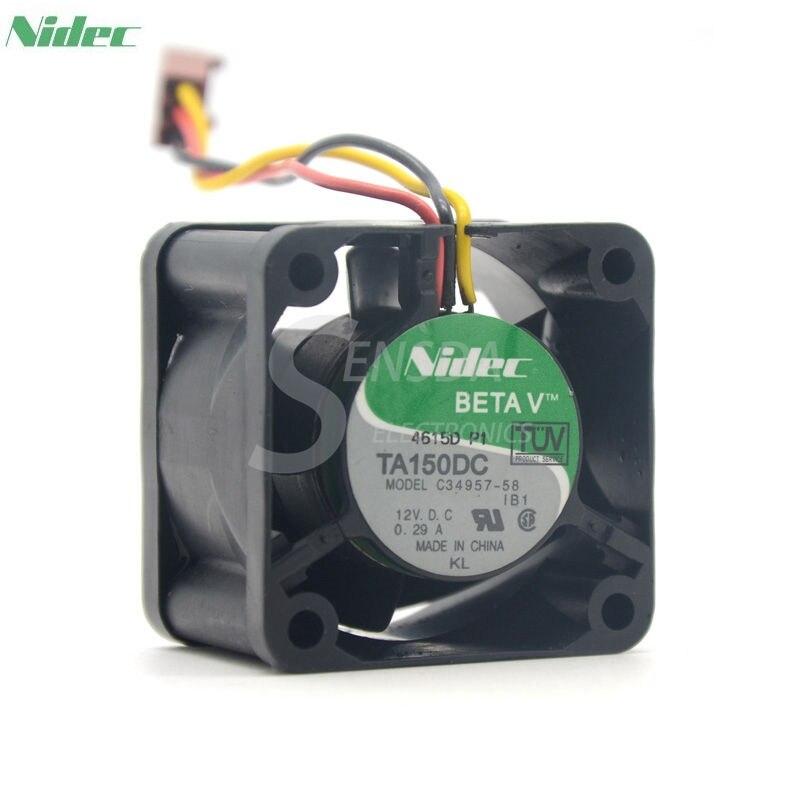 Nidec TA150DC C34957-58 12V 0.29A 4028 40mm 4cm server for Cisco switch fan