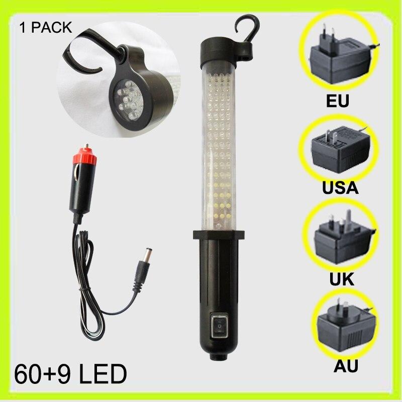 1 упак. аккумуляторная 60 + 9 индикатор аварийного лампа светодиодная лампа работы вспышки света автомобилей придорожных Garage ce ul saa зарядное у...