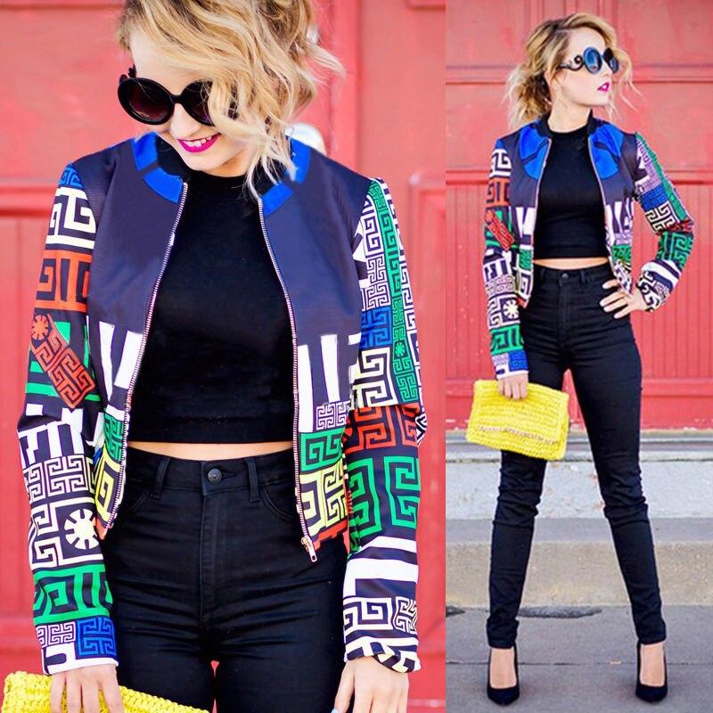 Fashion Women Lady Clothing Tops Floral Casual Coat Jacket Suit Parka Outwear Clothes Autumn