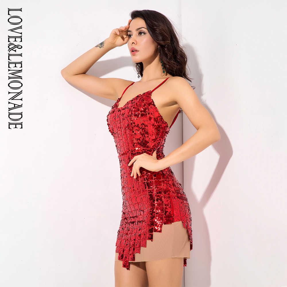 Красное Клетчатое Сетчатое платье с v-образным вырезом и пайетками LM81305